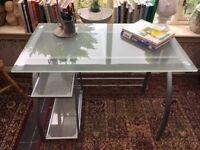 Smoke Glass Top Desk
