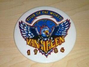 Vintage 1984 Van Halen Tour Of The World Button