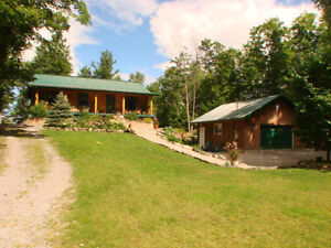 Newer Waterfront Log Home on White Lake!