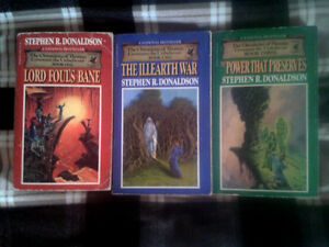 The Chronicles of Thomas Covenant the Unbeliever trilogy
