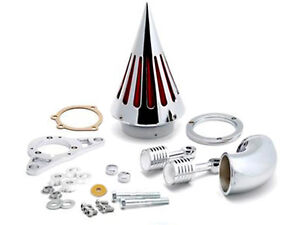 Chrome Cone Spike Air Cleaner Filter Kit For Harley EFI Twin Cam Rocker Softail
