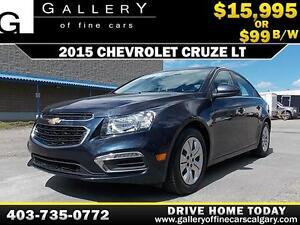 2015 Chevrolet Cruze LT $99 bi-weekly APPLY NOW DRIVE NOW