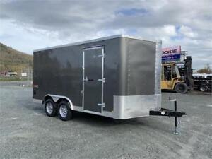 NEW TRAX 14X8.5 ENCLOSED SNOWMOBILE CARGO TRAILER 7000lb