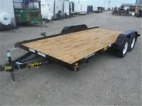 6K - 7 X 16 FLATBED CAR HAULER - RADIAL TIRES, RAMPS - TAX IN