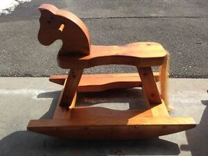 Combo mini furniture for infant - rocking horse & rocking chair