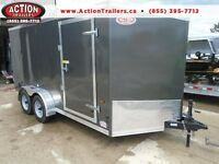 ENCLOSED TRAILER IN STOCK 2016 HAULIN - READY TO USE 7 X 14' TA