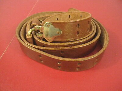 WWII US ARMY M1907 Leather Sling for M1 Garand Rifle - Dated: 1942 - Repro for sale  Henderson