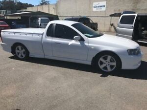 2004 Ford Falcon BA XR6 Ute Super Cab White 4 Speed Sports Automatic Utility
