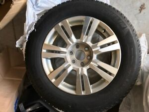 Winter Tires and Rims for a Cadillac SRX