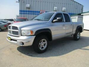 2005 DODGE RAM SLT 4X4, QUAD CAB, SAFETY AND WARRANTY $7,950