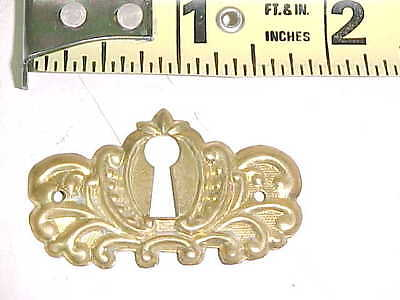 VINTAGE OLD ANTIQUE SOLID BRASS ESCUTCHEON KEYHOLE KEY HOLE COVER