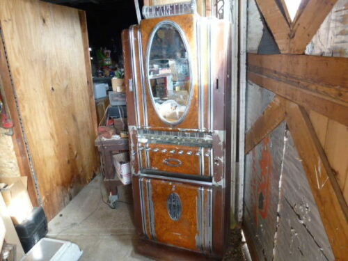 """Deco 1940s Aurther Dugrenier """"hotel"""" Style Super Ornate Cigarette Machine ! ! !"""