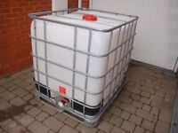 IBC 1000 Litre in ESSEX Container Water Butt Oil Tank Tent Anchor Fish Store Hydroponics HGV Weight