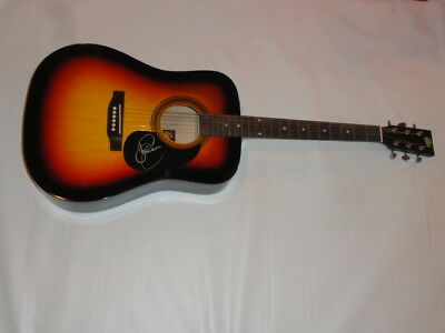 Sara Evans Signed Sunburst Acoustic Guitar Country Superstar Proof