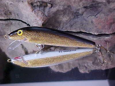 "AC Model 250 Shiner 2 1//2/"" Wood Shallow Minnow Freshwater GOLD PERCH//ORANGE"
