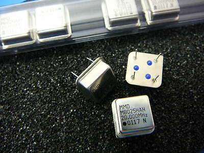 Mmd Components Mb025hah 20mhz Crystal Oscillator 1-ch 4-pin Dip New Qty.3
