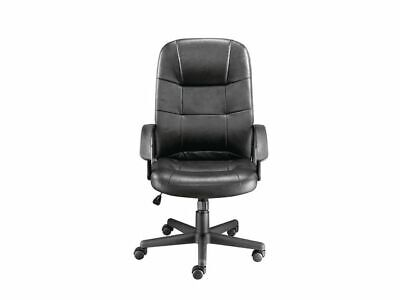 Staples Impetus Leather Executive Office Chair - Black - Adjustable - Free P&P!