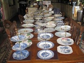 Many new cake display stands, china lovely colours and designs two and three tiers.