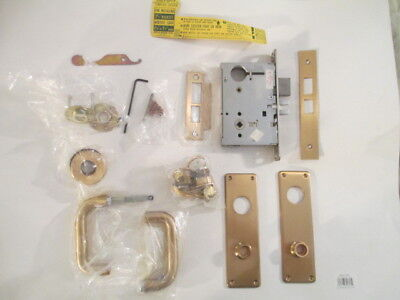 New Old Stock. Mortise Lock With 2 Corbin Mortise Cylinders 612 Bronze Finish