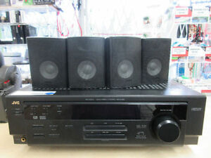 **ALL SET** JVC receiver plus 5 speakers and 1 sub woofer