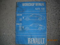 1972 Renault Workshop Manual
