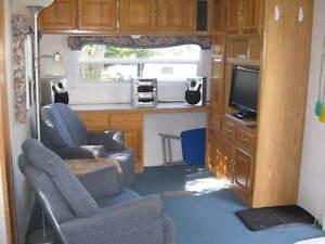 Seasonal trailer at Palmerston Lake Campground