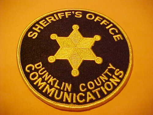 DUNKLIN COUNTY MISSOURI COMMUNICATIONS POLICE PATCH SHOULDER SIZE UNUSED 4 X 4