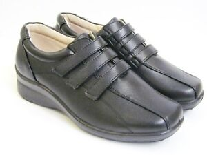 LADIES WOMENS FLAT VELCRO WIDE FITTING E FIT DR KELLER CASUAL WORK SHOES SIZE