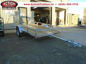 Galvanized tilt/ramp 5.5' x 10' utility trailer DISCOUNTED