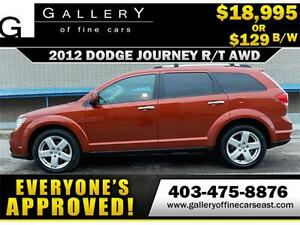 2012 Dodge Journey R/T AWD $129 bi-weekly APPLY NOW DRIVE NOW