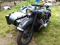 1972 Ural bmw motorcycle and sidecar