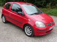 Toyota Yaris 1.3 SR 2001 Part exchange to clear Full MOT when sold