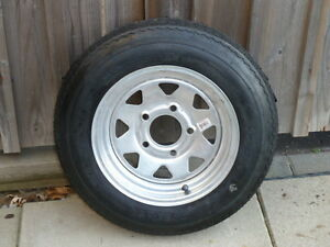 Galvanized Trailer Rim & Tire Assembly