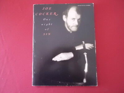 Joe Cocker - One night of sin . Songbook Notenbuch Piano Vocal Guitar PVG