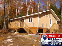 500 ACRES & 24'x32' Cabin overlooking Pond South River $299900