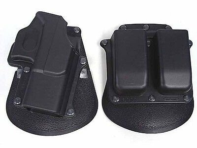 Hunting Pistol Paddel Holster & Magazine Pouch Holster Belt Set For Glock 17 19 for sale  Shipping to Canada