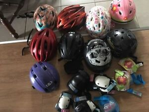Bike helmets. AVAILABLE