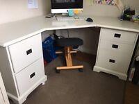 Corner Office Desk - off white
