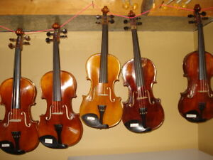 Five violins for sale