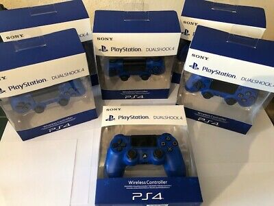 BOXED NEW Sony PS4 Dualshock 4 V2 Wireless Controller (Blue)