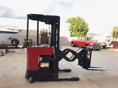 Raymond Electric Double Reach Forklift 3000lbs 210 Lift Height Reach Forklift