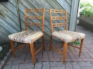 Set of 4 Vintage Beech Dining Chairs