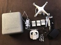 DJI Phantom 4 drone with extra batteries for sale
