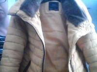ladies , older girls yellow zara jacket excellent condition size xs
