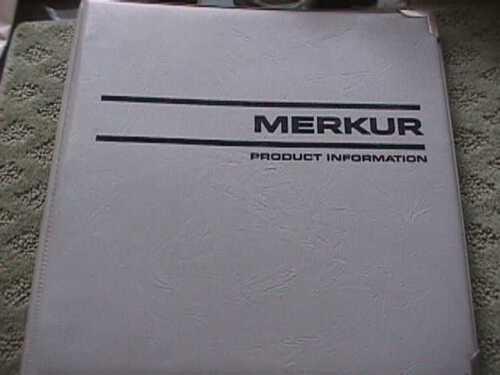 SCARCE MERKUR DEALER PRODUCT INFORMATION BINDER
