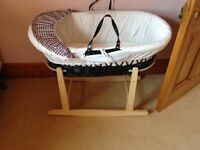 Suitable from newborn Moses basket