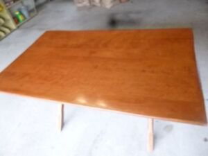 Antique Solid Wood Harvest Table - Solid Wood  Made in Strathroy