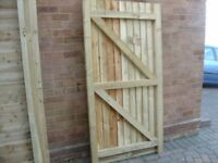 PREASURE TREATED 6X3 GARDEN GATES MADE TO ALL SIZES