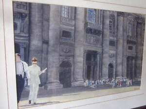 Hand Painted Framed picture of the Vatican in Rome Comox / Courtenay / Cumberland Comox Valley Area image 1