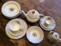 Copeland Spode's Polka Dot Tea Set / Vintage Teaset